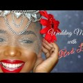 Simple-Wedding-Makeup-with-Classic-Red-Lips-Ellarie