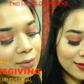 Thanksgiving-makeup-tutorialFall-leaves-Inspired-MakeupBold-vampy-lipsnude-lipsBeauty-Brigade