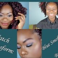 WATCH-ME-TRANSFORM-Blue-smokey-eyes-Brown-lips