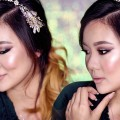 Brown-Smoky-Eye-Glitter-for-Christmas-Asian-Eye-Makeup