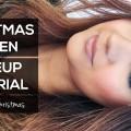 Christmas-Green-Smokey-Eyes-Makeup-Tutorial-25daysofChristmas