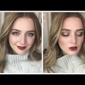 Gold-Eyes-Red-Lips-Makeup-Tutorial