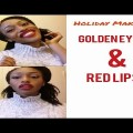 Holiday-Makeup-GOLDEN-EYES-AND-RED-LIPS
