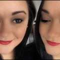 Holiday-Makeup-Tutorial-Soft-Gold-Eyes-Red-Lips-l-Lin-Sabrina