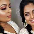 Indian-Wedding-Guest-Makeup-Tutorial-Metallic-Rose-Gold-Eyes-Brown-Lips-GRWM