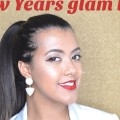New-Year-Makeup-look-Glowing-skin-and-Red-LipsHoliday-Glam