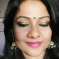 Party-makeup-look-2016-Wedding-makeup-look-2016-Green-eye-makeup-look