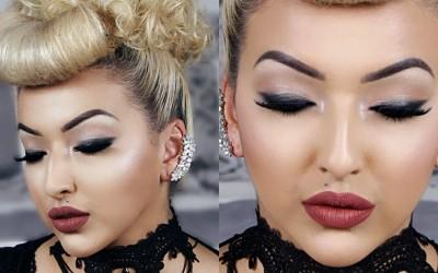 Smudged-Liner-Full-Face-Makeup-Tutorial