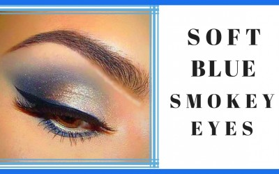 Soft-Blue-Smokey-Eyes-Makeup-Tutorial