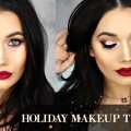 Sparkly-Holiday-Smokey-Eyes-Red-Lips-Makeup-Tutorial-SHAEMAS.11