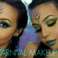 CARNIVAL-MAKEUP-Green-Yellow-Blue-Eyes-Chanelle-Rochard