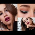 FULL-GLAM-GLITTER-EYES-METALLIC-LIPS-Makeup-Tutorial-