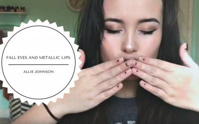 Fall-Eyes-Metallic-Lips-Makeup-Tutorial