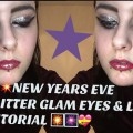 NEW-YEARS-EVE-GLITTER-GLAM-eyes-glitter-lips-MAKEUP-TUTORIAL-Theheyitsophie