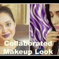One-Pallete-Makeup-Look-Collab-Challenge-Look-with-Simran-Vamp-Lips-with-Blue-Rainbow-Eyes