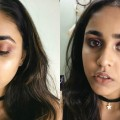 Plum-Fiery-Eyes-Nude-Lips-Makeup-Tutorial