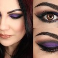 Purple-cut-crease-makeup-tutorial-affordable-products