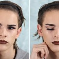 Smokey-liner-Ombre-lips-Makeup-Tutorial