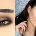 Brown-Halo-Smokey-Eye-Metallic-Vampy-Lips-Makeup-Tutorial