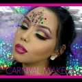 CARNIVAL-MAKEUP-Pink-Yellow-Green-Eyes-Chanelle-Rochard