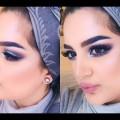 Cool-Toned-GreyBlue-Smokey-Eye-Makeup-Tutorial
