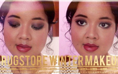 Dark-Purple-Halo-Eyes-Plum-Lips-Drugstore-Winter-Makeup-Tutorial-Tanisha-Hillary