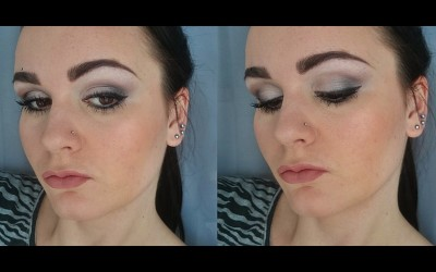 Grey-Smokey-Eye-Winged-Eyeliner-Nude-Lips-Makeup-Tutorial-Adele