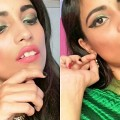 Indian-Wedding-Guest-Makeup-Tutorial-Green-Elongated-Winged-Liner