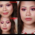 Red-Smokey-Eyes-and-Nude-lips-Valentines-Makeup-Tutorial-2017