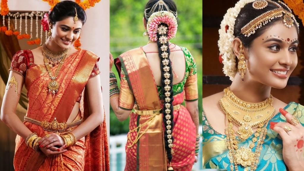 South Indian Bridal Saree Draping With Bridal Makeup Bridal