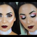 Valentines-Day-Makeup-Soft-Smoky-Eyes-Bold-Metallic-Lips