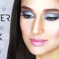 BLUE-GLITTERY-EYES-shimmery-blue-makeup-look