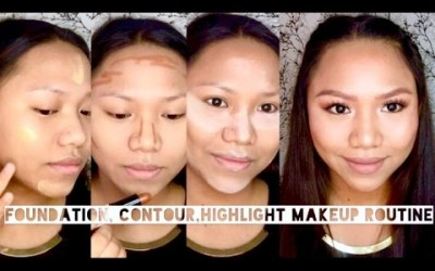 Foundation-Contour-Highlight-Makeup-Routine-Roxette-B