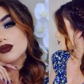 Full-Coverage-COLORFUL-Makeup-Tutorial-Mermaid-Side-Braid-Updo