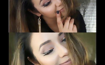 Get-Ready-With-MeBronzy-and-Glitter-Makeup-eye-with-Hair-tutorialKay-Makeover