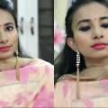 Indian-Wedding-Guest-Makeup-Look-Tutorial-for-Bridesmaid