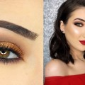 Warm-Smokey-Copper-Eyes-Red-Lips-Makeup-Tutorial-GIVEAWAY
