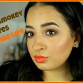 Brown-smokey-eyes-orange-lips-Spring-Simple-look-Full-of-Makeup