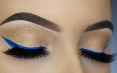 Easy-Blue-Eye-Liner-Makeup-Tutorial