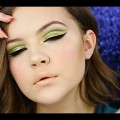 Green-Cut-Crease-Nude-Lips-Makeup-Tutorial-Hooded-Eye-Friendly