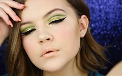 Green-Cut-Crease-Nude-Lips-Makeup-Tutorial-Hooded-Eye-Friendly