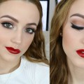 Simple-Holiday-Makeup-Tutorial-Glossy-Red-Lips