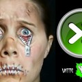 Halloween-ZIPPER-FACE-Makeup-Tutorial-with-3RD-DEGREE-SCARS-Speed-painting-in-4k-Witte-Artistry