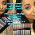 Monochromatic-Brown-Nude-Makeup-TutorialMakeup-Revolution-Essential-Mattes-EyeShadow-Mini-Review