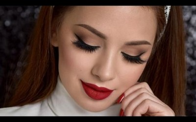 PAN-CHAN-MAKEUP-Neutral-Smokey-Eye-Red-Lips-Makeup-Tutorial