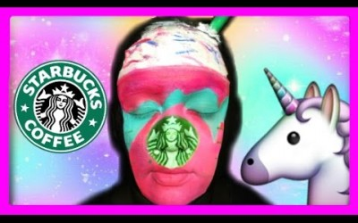 STARBUCKS-UNICORN-FRAPPUCCINO-MAKEUP-TUTORIAL