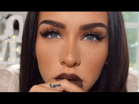 fall makeup  simple eyes  faux freckles  nowchic